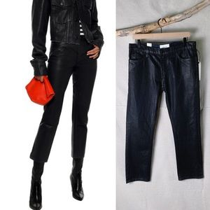 NWT CURRENT/ELLIOT Coated Cropped Straight Jeans